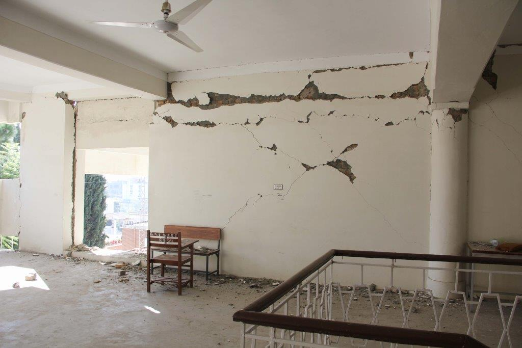 Government Girls College Swat damaged in quake