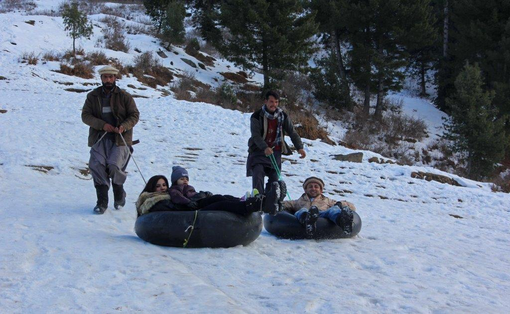 Snow tubing brings joy for tourist, income for locals