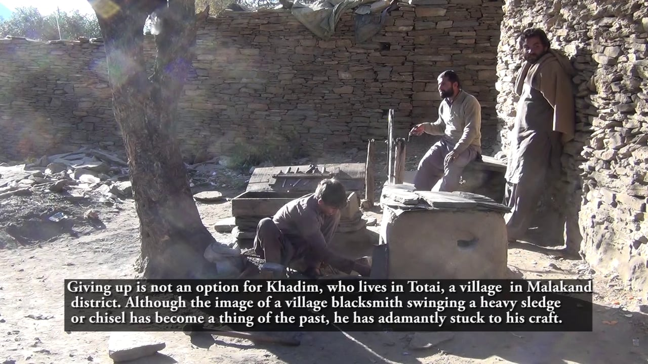 Young smithy in Totai village of District Malakand