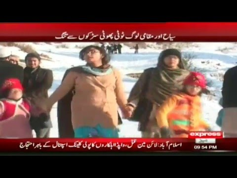 Worst condition of Malam Jaba road hampers visitors