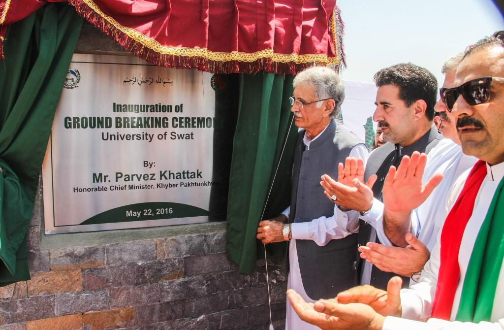 CM inaugurates work on the construction of UoS building