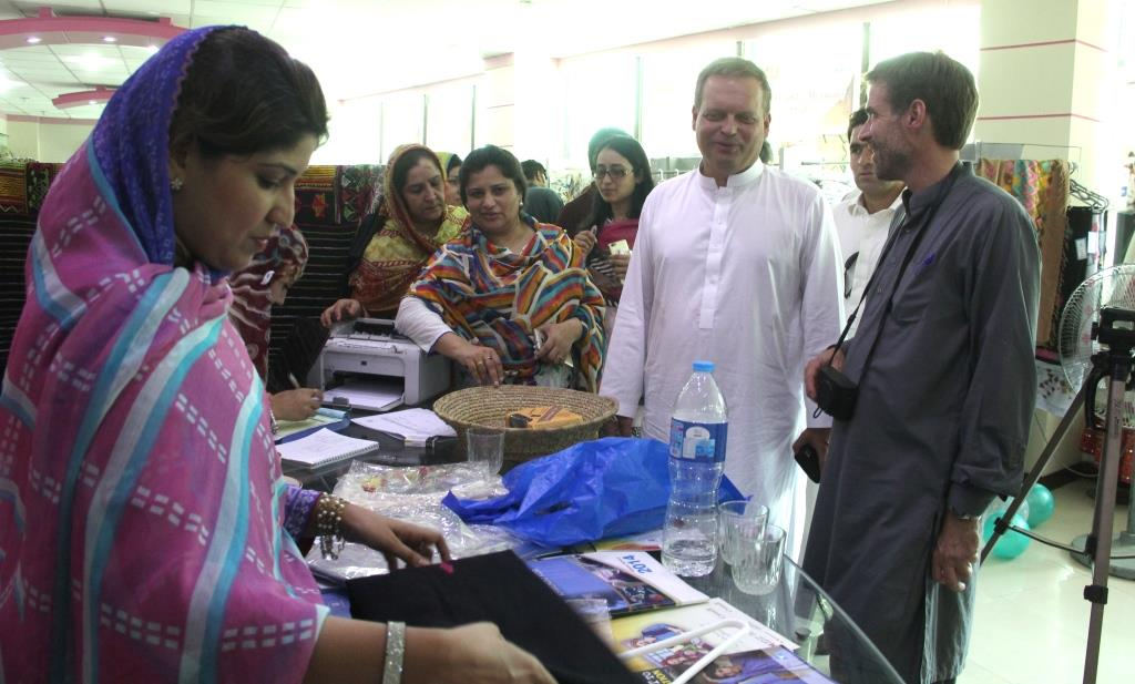 Exhibition held featuring Swati handicrafts
