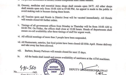 Coronavirus: District administration bans tourists entry into Swat