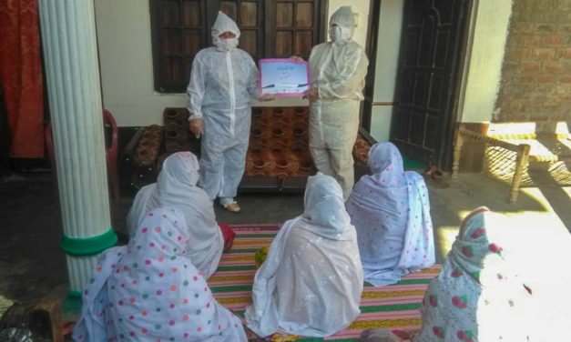 Philanthropist sisters provide personal protection equipment to LHWs in Swat