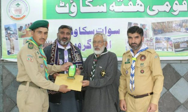 Swat scouts perform social activities in a scout week